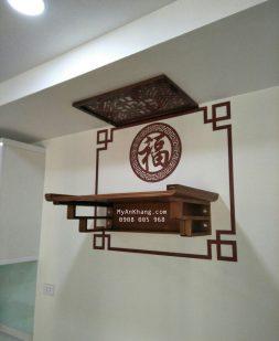Bàn thờ treo tường đẹp hiện đại TT002