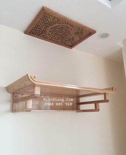 Bàn thờ treo tường gỗ sồi đẹp TT-002