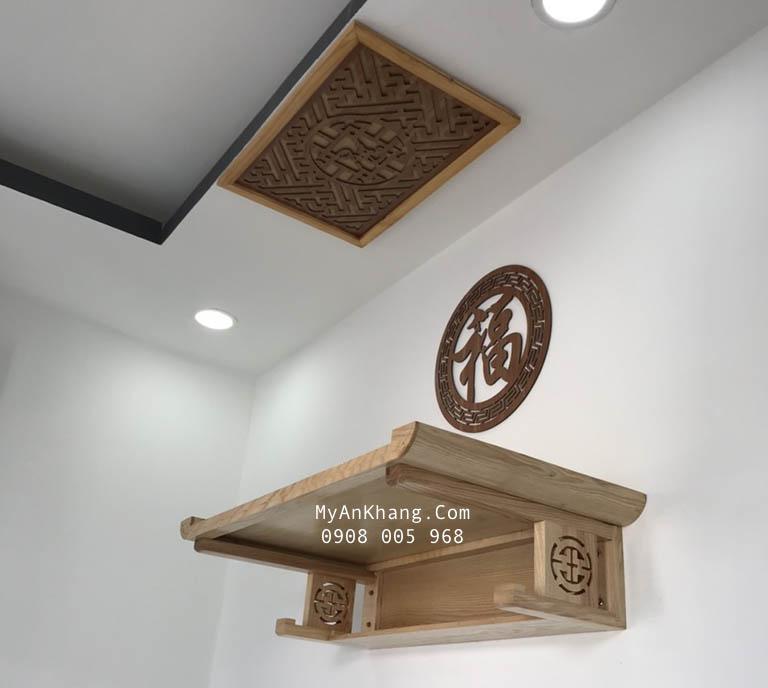 Bàn thờ treo tường gỗ sồi đẹp hcm
