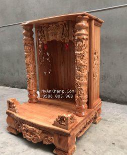 Trang thờ thần tài ông địa gỗ xoan đào