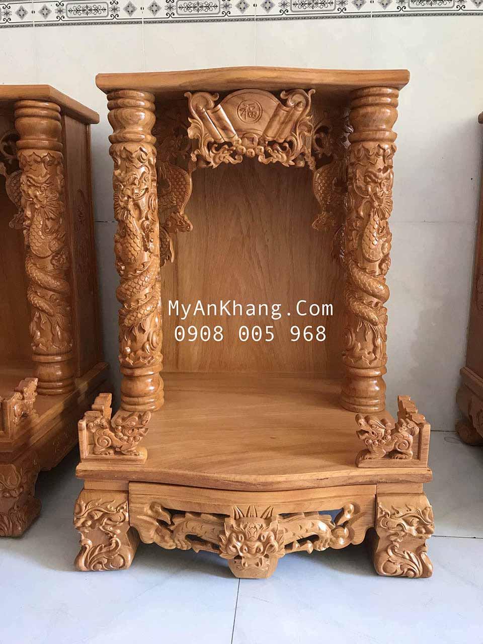 Bàn thờ thần tài đẹp cột 10 kiên Giang