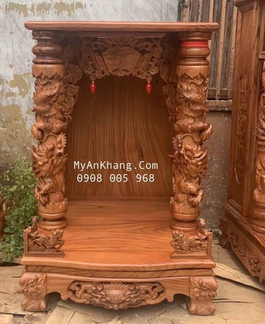 Bàn thờ thần tài gỗ hương vân đẹp