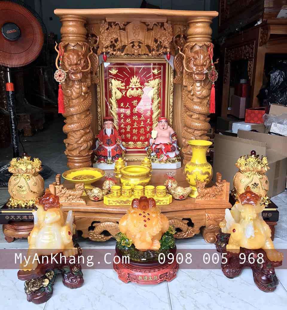 Bàn thờ thần tài ông địa đẹp tại TPHCM của Mỹ An Khang