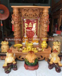 Combo trọn bộ bàn thờ thần tài ông địa đẹp cách sắp xếp