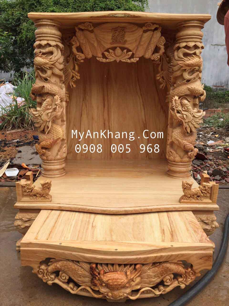 Ảnh mộc bàn thờ thần tài đẹp nhất BTOD-056
