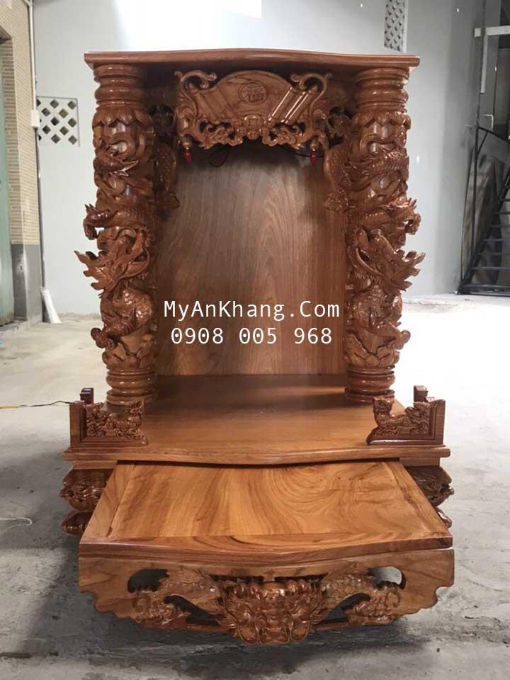 Bàn thờ thần tài đẹp Đại Phúc gỗ gõ đỏ kích thước 81 81 108