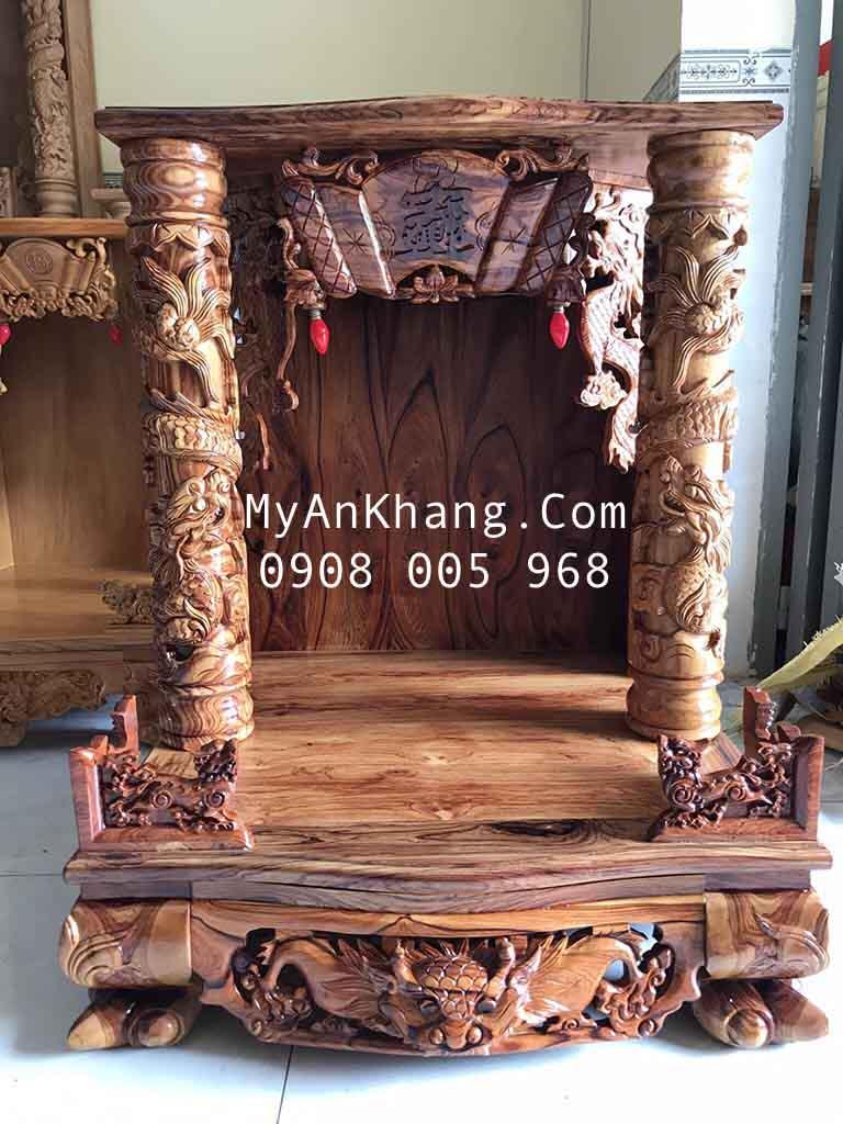 Bàn thờ ông địa gỗ cẩm lai vân tím cao cấp Gia Lai