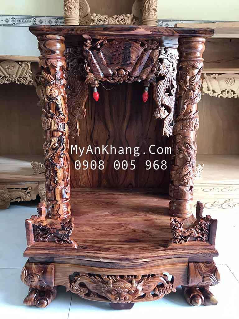 Bàn thờ ông địa thần tài gỗ cẩm lai đẹp VIP 60