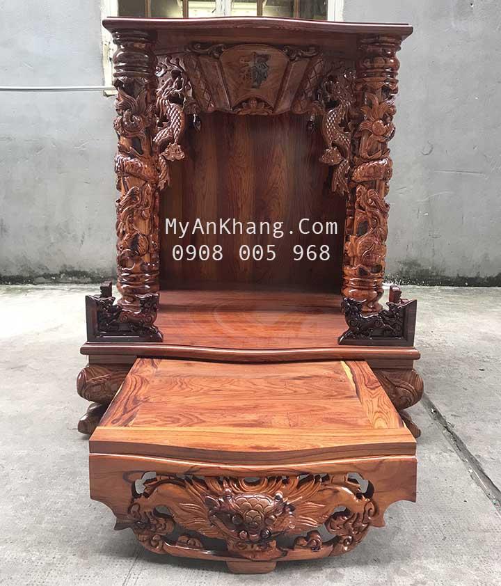 Bàn thờ thần tài gỗ cẩm lai Việt đẹp siêu VIP