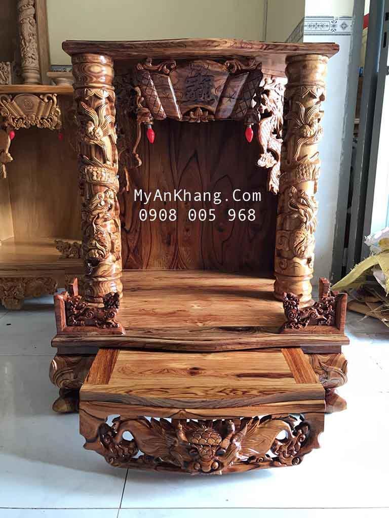 Bàn thờ thần tài ông địa gỗ cẩm lai vip 68 68 x 108