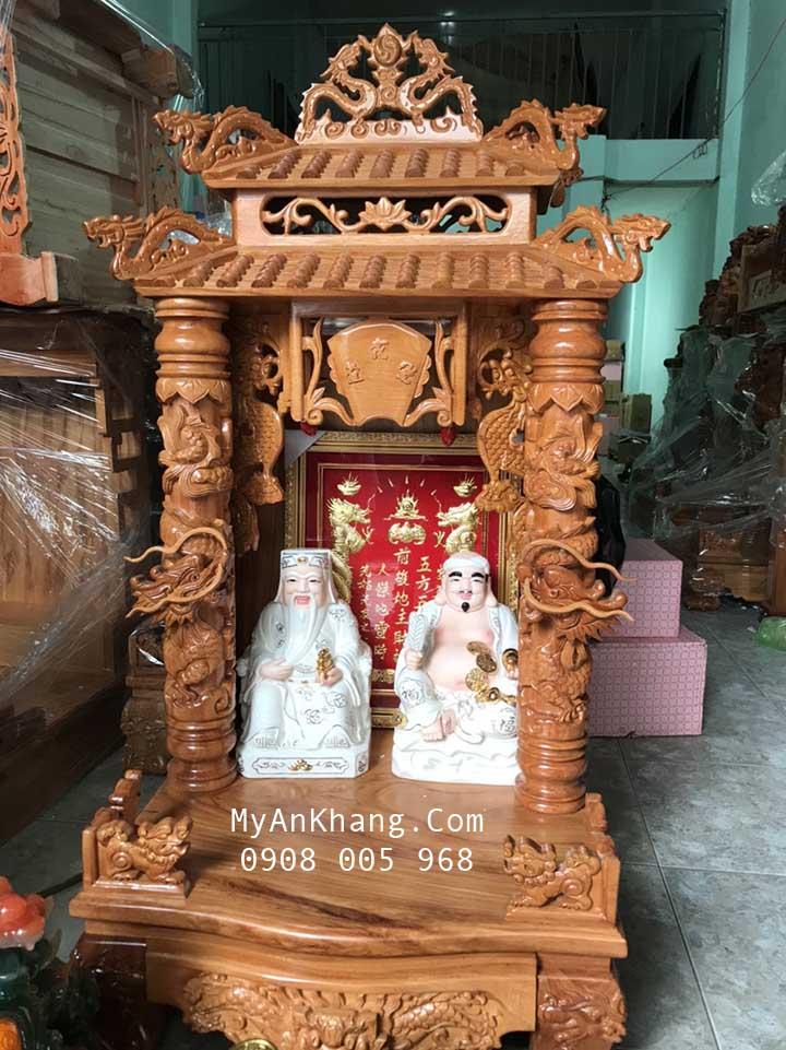 Bàn thờ thần tài mái chùa đẹp tại quận Phú Nhuận