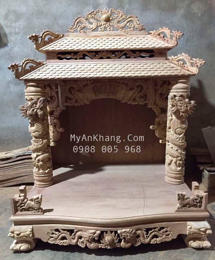 Ảnh mộc bàn thờ ông địa mái chùa đẹp tại quy nhơn