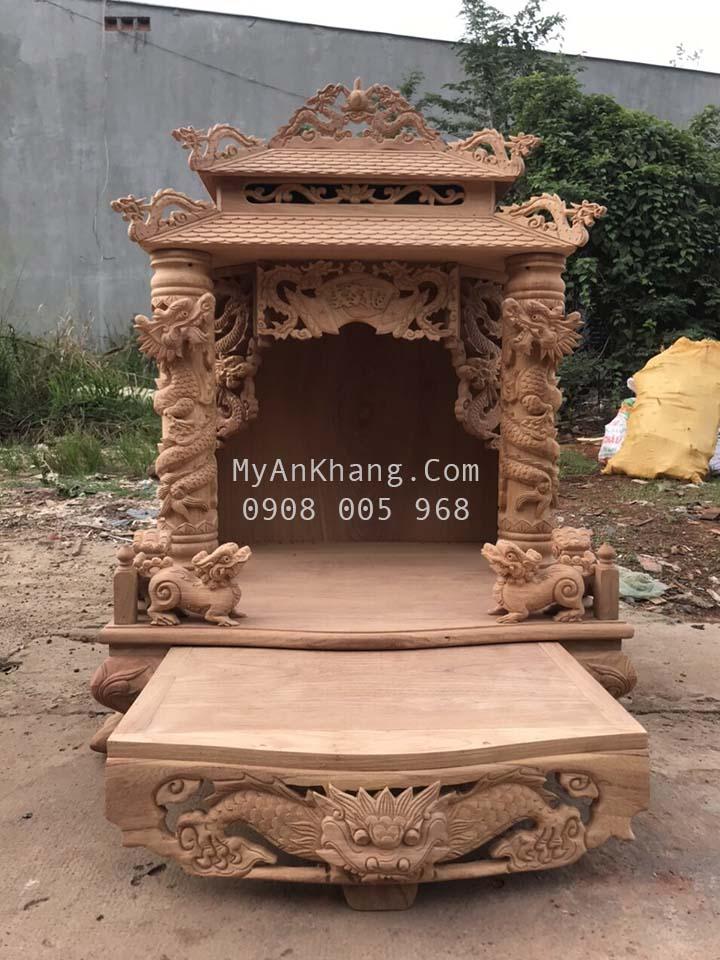 Bàn thờ thần tài ông địa mái chùa đẹp nhất kích thước 108 cm
