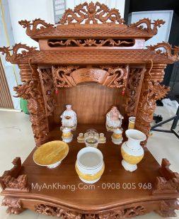 Bàn thờ thần tài ông địa mái chùa đẹp tại Quy Nhơn