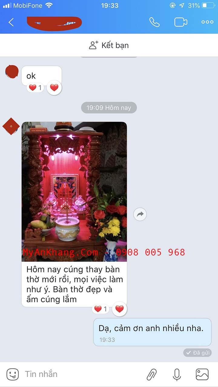 Khách hàng tại Quy Nhơn phản hồi về Mỹ An Khang