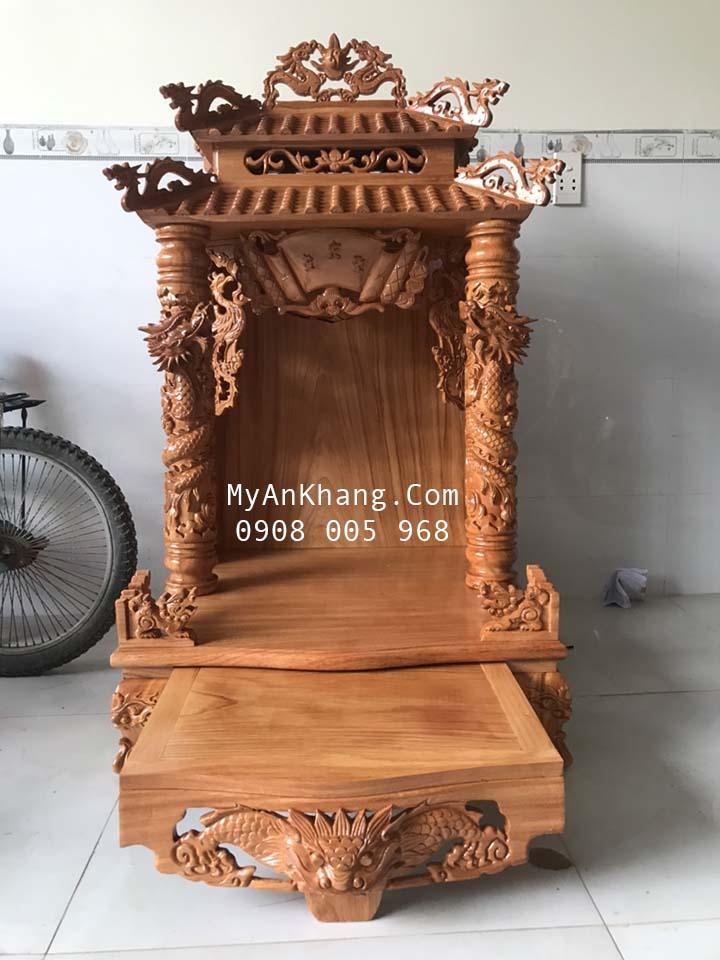 Bàn thờ ông địa mái chùa đẹp tại TP Phan Thiết Bình Thuận