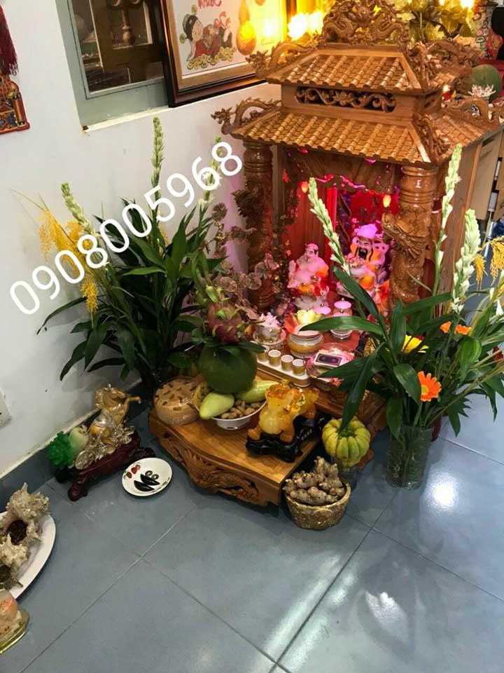 Trọn bộ bàn thờ thần tài đẹp tại TP. Hồ Chí Minh