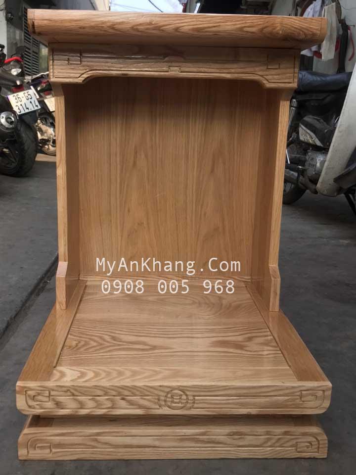 Bàn thờ ông địa gỗ tần bì đẹp hiện đại giá rẻ kt 48 x 48 x 68