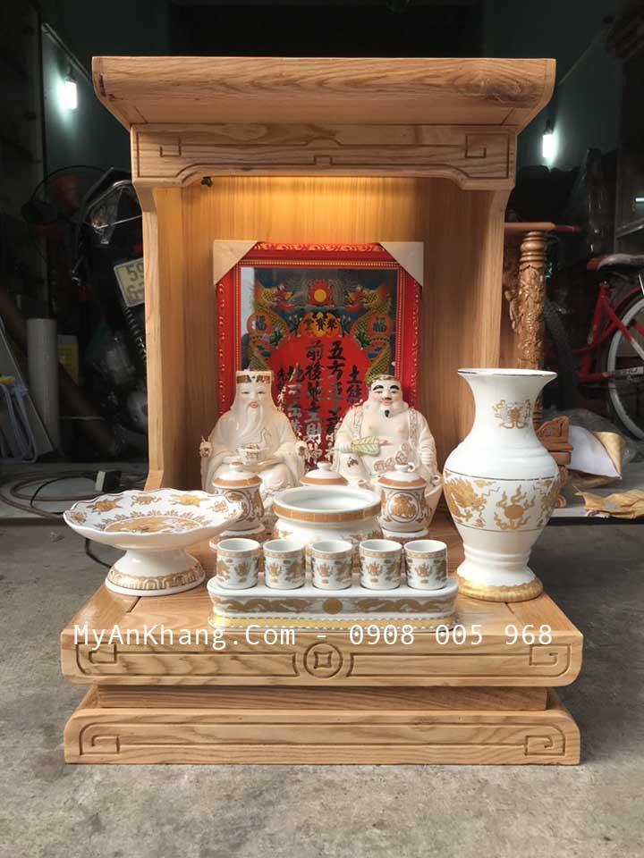 Trọn bộ bàn thờ thần tài giá rẻ hiện đại được soạn giao cho khách hàng