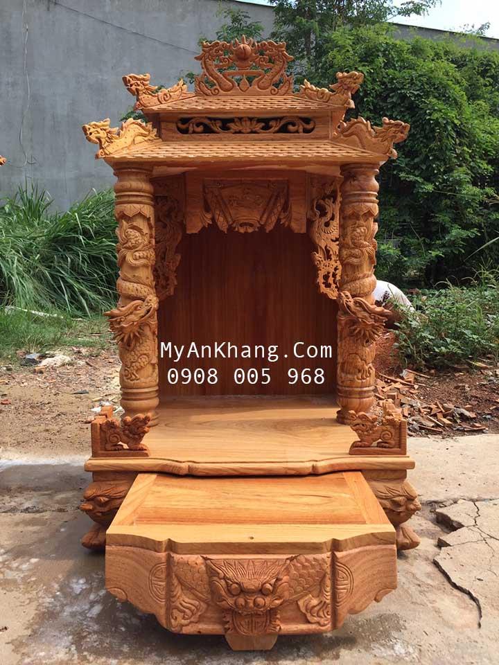 Bàn thờ thần tài mái chùa đẹp nhất tại quận 12