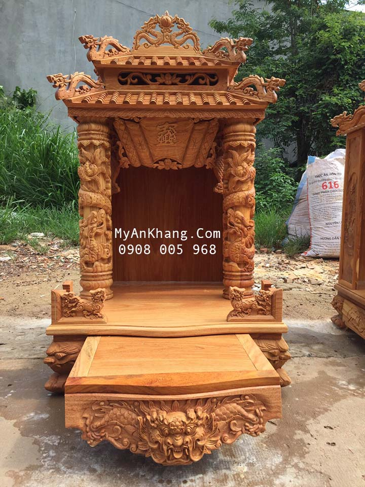 Bàn thờ thần tài mái chùa đẹp tại TP Sa Đéc